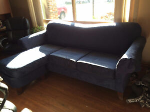 Blue couch with pull out bed