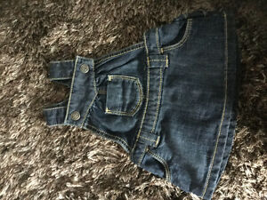 Brand new condition jean overall dress 0-3m Kitchener / Waterloo Kitchener Area image 1
