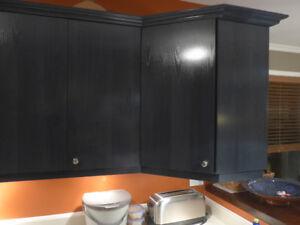 Armoire de cuisine en très bonne état + comptoir + évier
