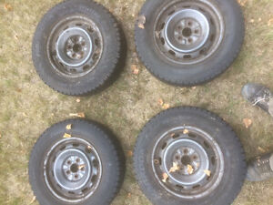 4 Winter tires studded and on rims good to go