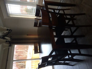 Pub Style Table and Chairs solid wood