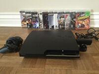 PS3 Slim 320GB, 1 manette, Caméra, 11 Jeux inclus.