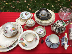 Antique Dishes and Tea Cups