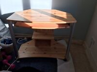 Solid pine office desk/ home work table