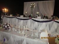 location, décoration, housse, nappe,  mariage, bapteme...