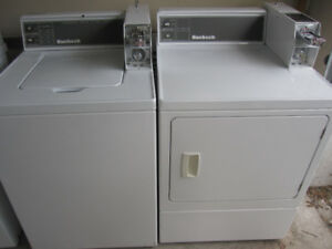 coin operated Huebsch washer and dryer