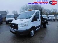FORD TRANSIT 2.2TDCI T350 MWB TIPPER 6 SPEED SAME DAY FINANCE