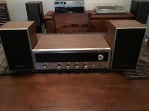 Realistic receiver and speakers