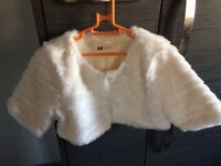 Girls fur shrug from H&M New without tags