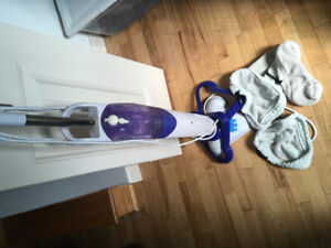 Steam mop with machine 4 washable covers.