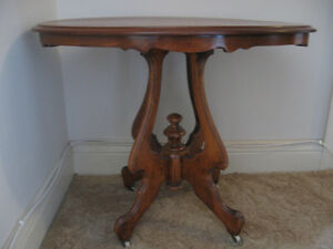 New Price--Lovely Antique Oval Walnut Table