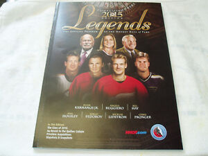NHL HOCKEY HALL OF FAME 2015 - 2016  SOUVENIR BOOKLET
