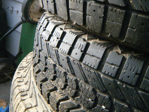 Two 195-65-15 snow tires