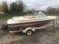 18.5 ft bowrider with trailer