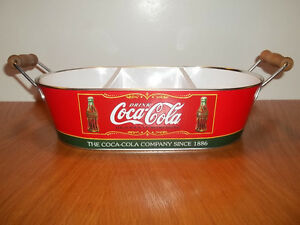 A vintage Coca-Cola metallic tray