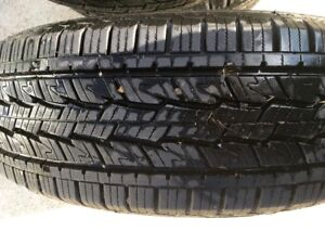 Four E rated tires