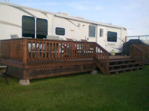 camping trailer for rent at Gagnon Beach