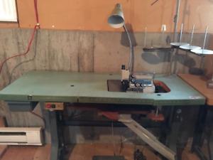 machines à coudre industrielles  overlock + plain
