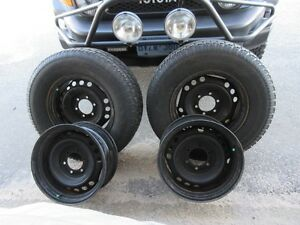 For Sale: 4 Steel Wheels & 2 Snow Tires (265/70R17)