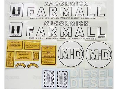 Ih Farmall Md Tractor M Diesel Vinyl Decal Set International Harvester Mccormick