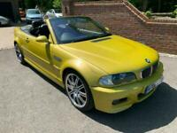 2001 (Y) BMW M3 3.2 CONVERTIBLE + 6 SPEED MANUAL + VERY RARE ONE OWNER M3