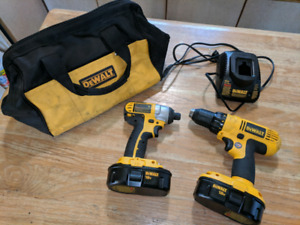 Dewalt 18v impact and drill combo