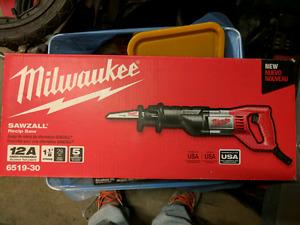 Brand new Milwaukee sawzall 120volt