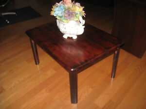 SOLID WOOD CORNER TABLE FOR THE SUN ROOM, LIVING ROOM, DEN