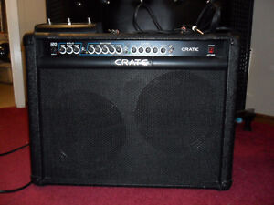 CRATE GT212 Guitar Amp & Bonus Pedal Footswitch - 120 Watts RMS