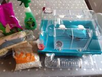 Hamster cage,accessories bedding & food