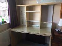 Office desk 140x75x77cm with shelving unit