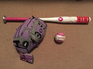 Brand NEW Tags Attached Bat, Glove & Ball