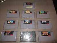 LOT DE 9 JEUX SUPER NINTENDO
