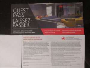 Air Canada Maple Leaf Lounge Guest Pass (2018)