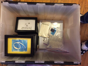 Picture Frames, Pew Holders, Bubbles, Reserved Signs -$30 OBO
