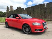 2010 Audi A3 Cabriolet 1.6 S Line Plus FSH RED Power Hood