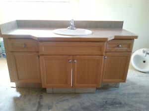 4 different bathroom sinks and laminate tops