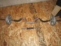 marcy exercise bench and curling bar