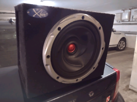 Kenwood subwoofer with amplifier