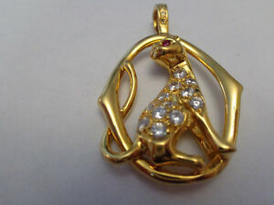18 Karat Gold Plated Cat Pendant Necklace