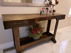 "Rustic ""work bench "" style table"