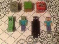 Mine craft blocks and characters