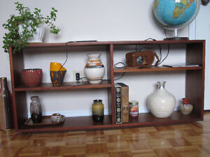 Mid Century Modernist Teak Wood Shelf
