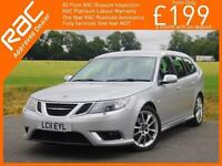 2011 Saab 9-3 1.9 TTiD Turbo Diesel 180 BHP Aero 6 Speed Estate Full Leather Hea