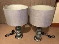 Table Lamps Grey / Silver