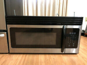 "Frigidaire stainless steel 30"" over the range microwave hood"