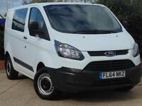 2014 Ford Transit Custom BASE 125 PS Double CabCrew Van 6 door Panel Van