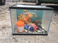 Starter fish tank and filter