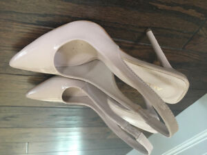 Gorgeous  Nude Patent Sling Back