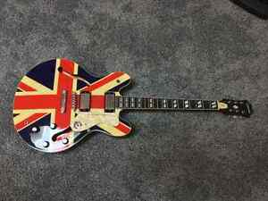epiphone noel gallagher supernova es-335 oasis Union Jack guitar